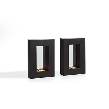 Danya B. Set of 2 Mirror Tealight Candle Sconces with Metal Frame (SE1527)