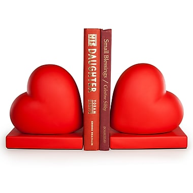 Danya B Red Hearts Bookend Set, 2/Pack (CSK8043)
