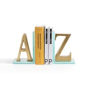 Danya B. Gold A to Z Glass Bookends (DS830)