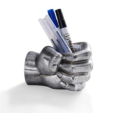 Danya B - Porte-stylo en forme de poing, argenté (NY8040SIL)