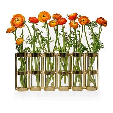 Danya B Six Tube Hinged Vase, Metallic Gold (QB280-GLD)