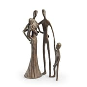 Danya B. Family of Four Cast Bronze Sculpture (ZD6780S)