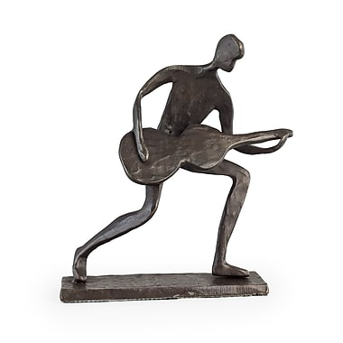 Danya B Crouching Guitar Player Bronze Sculpture (ZD681S)