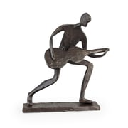 Danya B. Crouching Guitar Player Bronze Sculpture (ZD681S)