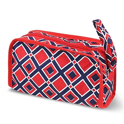 Zodaca Travel Cosmetic Makeup Case Bag Pouch Toiletry Zip Organizer - Red Times Square