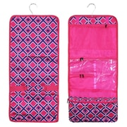 Zodaca Travel Hanging Cosmetic Carry Bag Toiletry Wash Organizer Storage - Pink Times Square