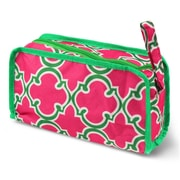 Zodaca Travel Cosmetic Makeup Case Bag Pouch Toiletry Zip Organizer - Pink Quatrefoil
