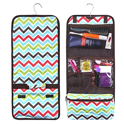 Zodaca Travel Hanging Cosmetic Carry Bag Toiletry Wash Organizer Storage - Multicolor Chevron