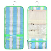 Zodaca Travel Hanging Cosmetic Carry Bag Toiletry Wash Organizer Storage - Green Lines