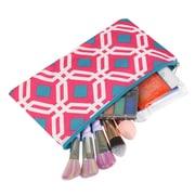 Zodaca Pencil Case Toiletry Holder Cosmetic Bag Travel Makeup Zip Storage Organizer - Graphic Pink
