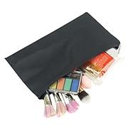 Zodaca Pencil Case Toiletry Holder Cosmetic Bag Travel Makeup Zip Storage Organizer - Black