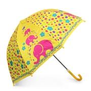 Zodaca Children Kids Lightweight Portable Nylon Umbrella with Hook Handle for Rainy School days - Elephant