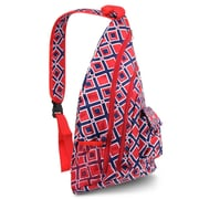 Zodaca Lightweight Classic Style Handbag Duffel Travel Camping Hiking Zipper Shoulder Carry Bag - Navy/Red Times Square