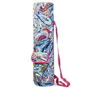 Zodaca Lightweight Durable Full-Zip Yoga Mat Gym Sports Bag with Pocket & Adjustable Shoulder Strap - Multicolor Paisley