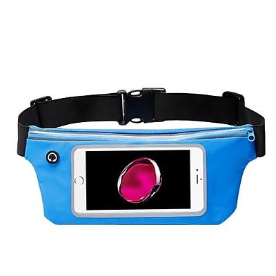 Insten Lightweight Sports Fitness Running Jogging Waist Pack Pocket Belt Pouch Bag Case - Blue (Size: 6.5