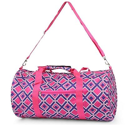 Zodaca Outdoor Camping Hiking Large Travel Sport Backpack Shoulder School Bag - Anchor Black/Pink
