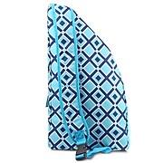 Zodaca Lightweight Durable Full-Zip Yoga Mat Gym Sports Bag with Pocket & Adjustable Shoulder Strap - Pink Quatrefoil