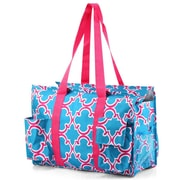 Zodaca Lightweight All Purpose Handbag Large Utility Shoulder Tote Carry Bag for Camping Travel Shopping - Blue