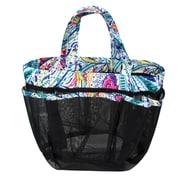 Zodaca Lightweight Mesh Shower Caddie Bag Quick Dry Bath Organizer Carry Tote Bag for Gym Camping - Blue Paisley