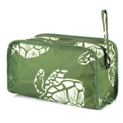 Zodaca Womens Travel Cosmetic Bag Multifunction Toiletry Pouch Makeup Organizer Zip Storage Case - Green Turtle
