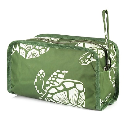Zodaca Womens Travel Cosmetic Bag Multifunction Toiletry Pouch Makeup Organizer Zip Storage Case - Green Turtle