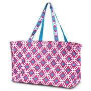 Zodaca Large All Purpose Stylish Magnetic Clasp Open Top Handbag Laundry Shopping Utility Tote Carry Bag - Graphic Pink