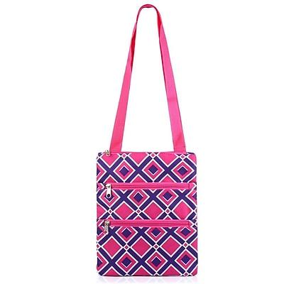 Zodaca Women Lightweight Small Messenger Shoulder Handbag Cross Body Purse Bag for Work Shopping Traveling - Pink