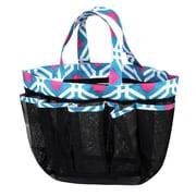 Zodaca Lightweight Mesh Shower Caddie Bag Quick Dry Bath Organizer Carry Tote Bag for Gym Camping - Blue Graphic
