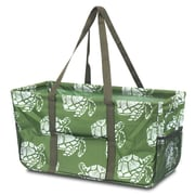 Zodaca All Purpose Wireframe Water Resistant Travel Handbag Laundry Shopping Utility Tote Carry Bag - Green Turtle