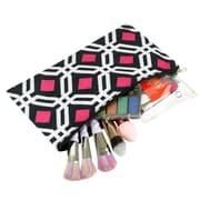 Zodaca Pencil Case Toiletry Holder Cosmetic Bag Travel Makeup Zip Storage Organizer - Graphic Black