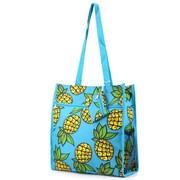 Zodaca Lightweight All Purpose Handbag Shopping Travel Zipper Tote Carry Shoulder Bag - Pineapple