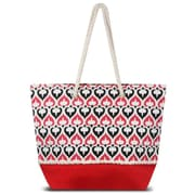 "Zodaca Spade Women Handbag Ladies Large Shoulder Tote Purse Messenger Bag (Size: 18.5"" L x 5.5 "" W x 14.5"" H) - Red"