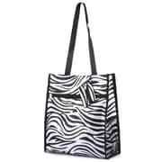 Zodaca Lightweight All Purpose Handbag Zipper Carry Tote Shoulder Bag for Travel Shopping - Zebra