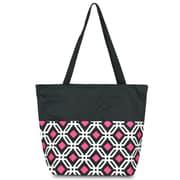 Zodaca Lightweight Large All Purpose Handbag Travel Shopping Zipper Carry Tote Shoulder Bag - Black Graphic