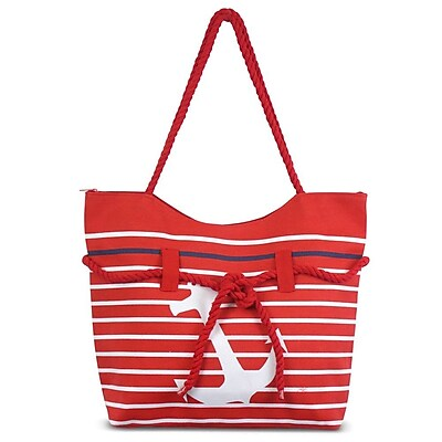 Zodaca Anchor Women Handbag Ladies Large Rope Shoulder Tote Purse Messenger Bag (Size: 19