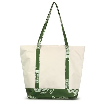 Zodaca Stylish Small Pinic Outdoor Camping Party Food Drink Storage Insulated Cooler Tote Bag - Green Turtle