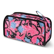 Zodaca Travel Cosmetic Makeup Case Bag Pouch Toiletry Zip Organizer - Pink Paisley