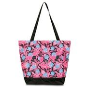 Zodaca Large All Purpose Lightweight Handbag Shopping Travel Tote Carry Shoulder Zipper Bag - Green Blue Paisley