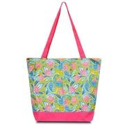 Zodaca Large All Purpose Lightweight Handbag Shopping Travel Tote Carry Shoulder Zipper Bag - Green Paisley