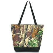 Zodaca Large All Purpose Lightweight Handbag Shopping Travel Tote Carry Shoulder Zipper Bag - Natural Camo
