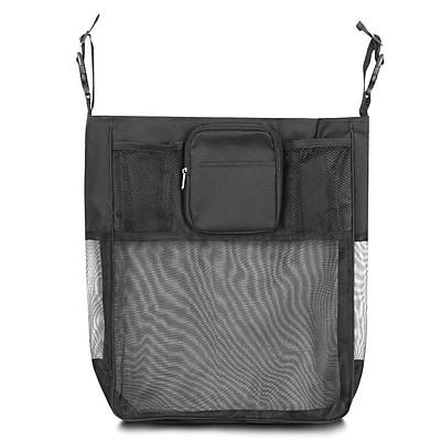 Zodaca Baby Cart Strollers Bag Buggy Pushchair Organizer Basket Storage Bag for Walk Shopping - Solid Black