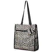 Zodaca Lightweight All Purpose Handbag Zipper Carry Tote Shoulder Bag for Travel Shopping - Tote Bag Leopard