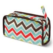 Zodaca Travel Cosmetic Makeup Case Bag Pouch Toiletry Zip Organizer - Multicolor Chevron