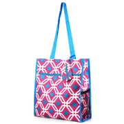 Zodaca Lightweight All Purpose Handbag Zipper Carry Tote Shoulder Bag for Travel Shopping - Pink Graphic