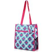 Zodaca Lightweight All Purpose Handbag Zipper Carry Tote Shoulder Bag for Travel Shopping - Blue Graphic