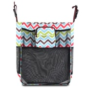 Zodaca Baby Cart Strollers Bag Buggy Pushchair Organizer Basket Storage Bag for Walk Shopping - Multicolor Chevron