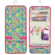 Zodaca Travel Hanging Cosmetic Carry Bag Toiletry Wash Organizer Storage - Green Pink Paisley