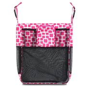 Zodaca Baby Cart Strollers Bag Buggy Pushchair Organizer Basket Storage Bag for Walk Shopping - Pink/White Geometric
