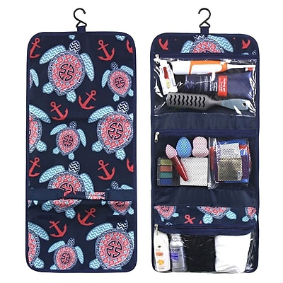 Zodaca Travel Hanging Cosmetic Toiletry Carry Bag Wash Organizer Storage - Multicolor Sea Turtle