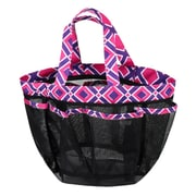 Zodaca Lightweight Mesh Shower Caddie Bag Quick Dry Bath Organizer Carry Tote Bag for Gym Camping - Purple/Pink